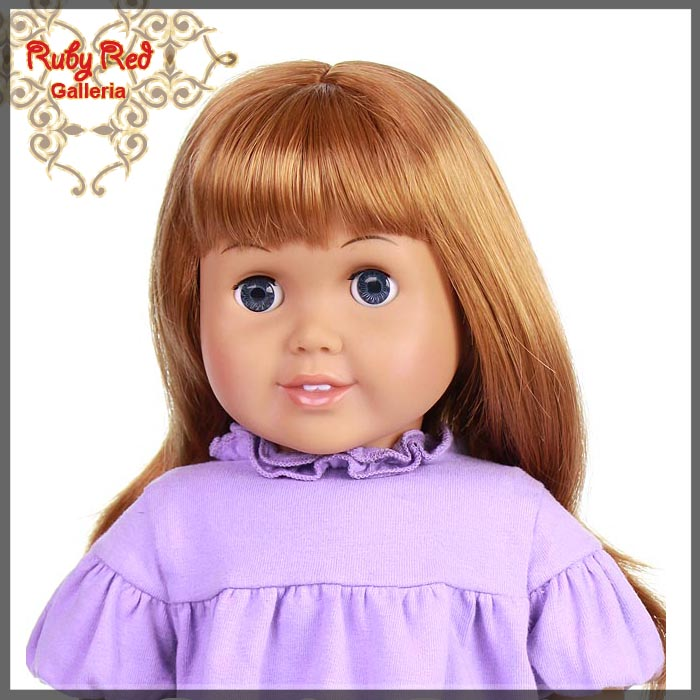 "AD0001B Straight Auburn Bang Wig for 18"" Girl"