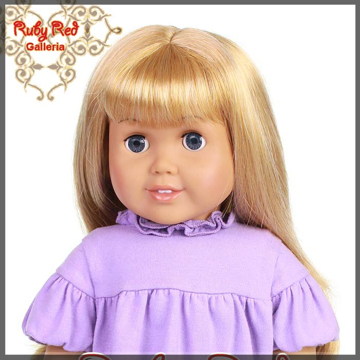 "AD0001D Straight Frosted Blonde Bang Wig for 18"" Girl"