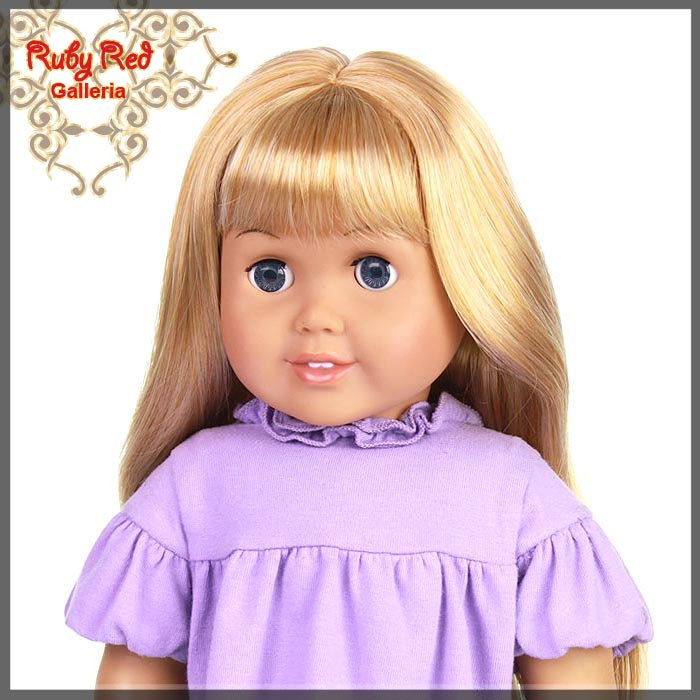 "AD0002D Straight Frosted Blonde Bang Wig for 18"" Girl"