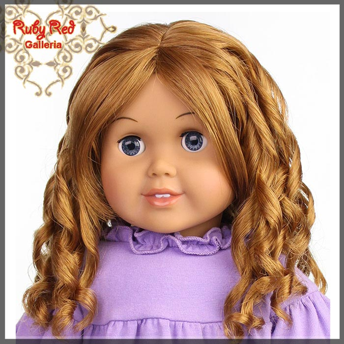 "AD0013E14 Strawberry Blonde Wig for 18"" Girl"