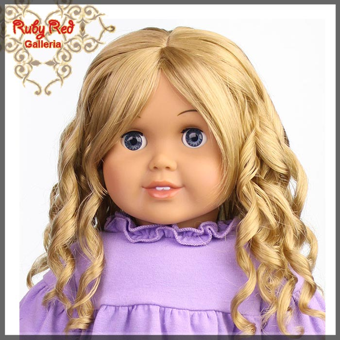 "AD0013E6 Ash Blonde Wig for 18"" Girl"