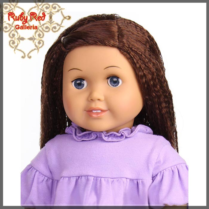 "AD0014E5 Dark Auburn Wig for 18"" Girl"