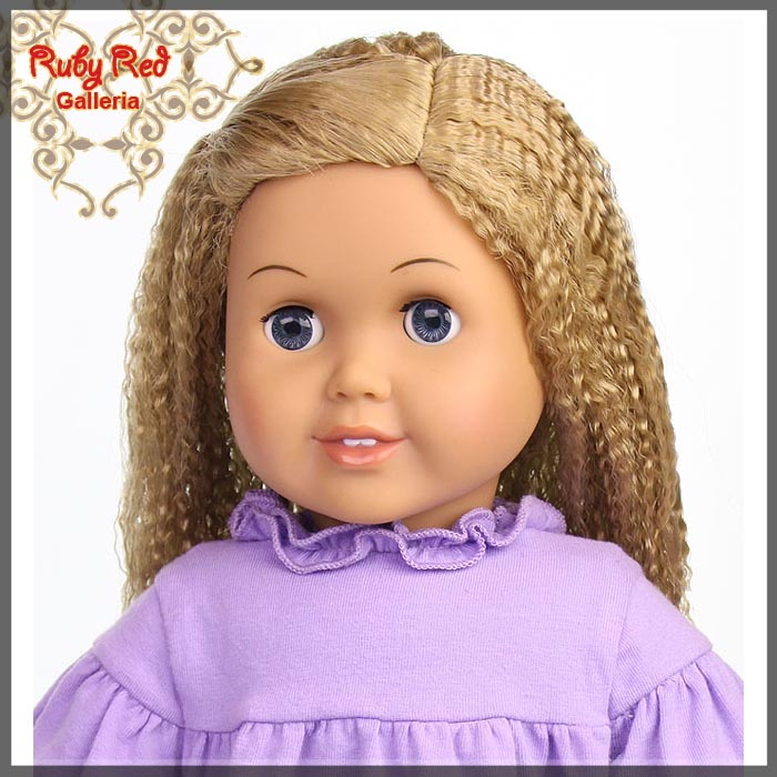 "AD0014E6 Ash Blonde Wig for 18"" Girl"