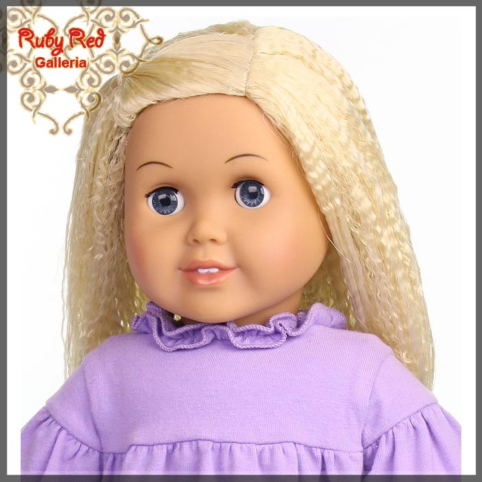 "AD0014E9 Pale Blonde Wig for 18"" Girl"