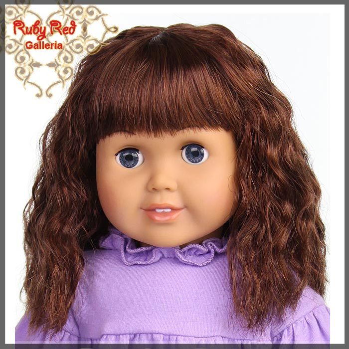 "AD0015E5 Dark Auburn Wig for 18"" Girl"