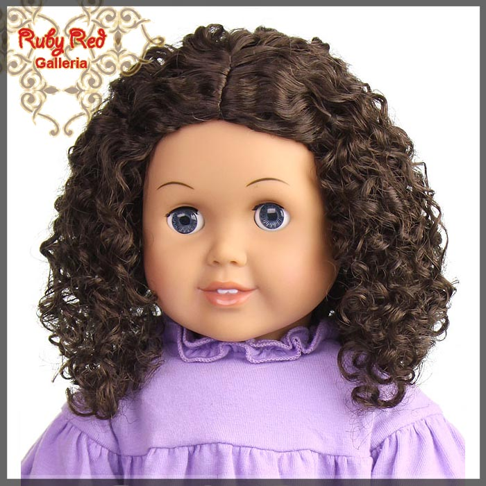 "AD0016E12 Medium Brown Wig for 18"" Girl"