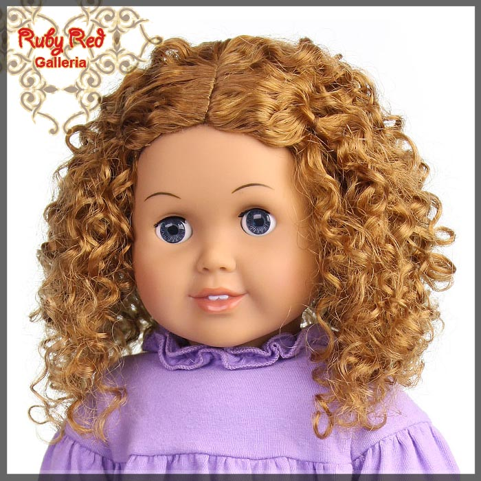 "AD0016E14 Strawberry Blonde Wig for 18"" Girl"