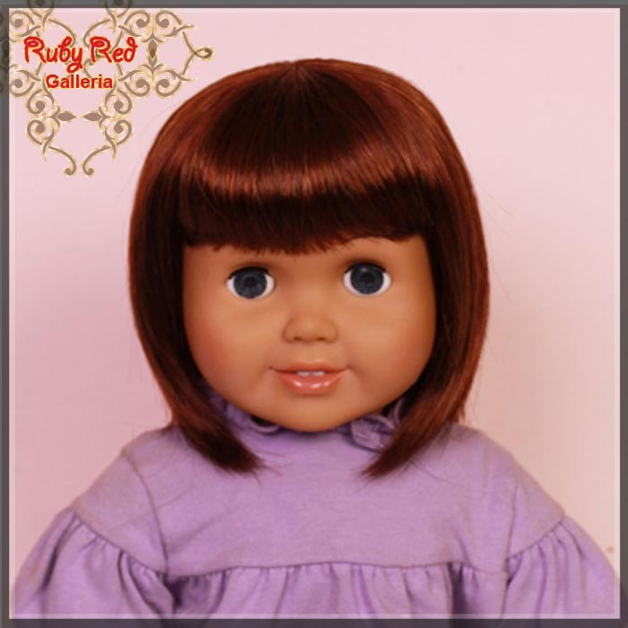 "AD0020E5 Carrot Red Straight Wig for 18"" Girl"