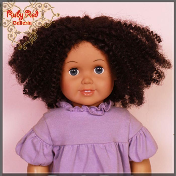 "AD0022E2 Black Curly Wig for 18"" Girl"