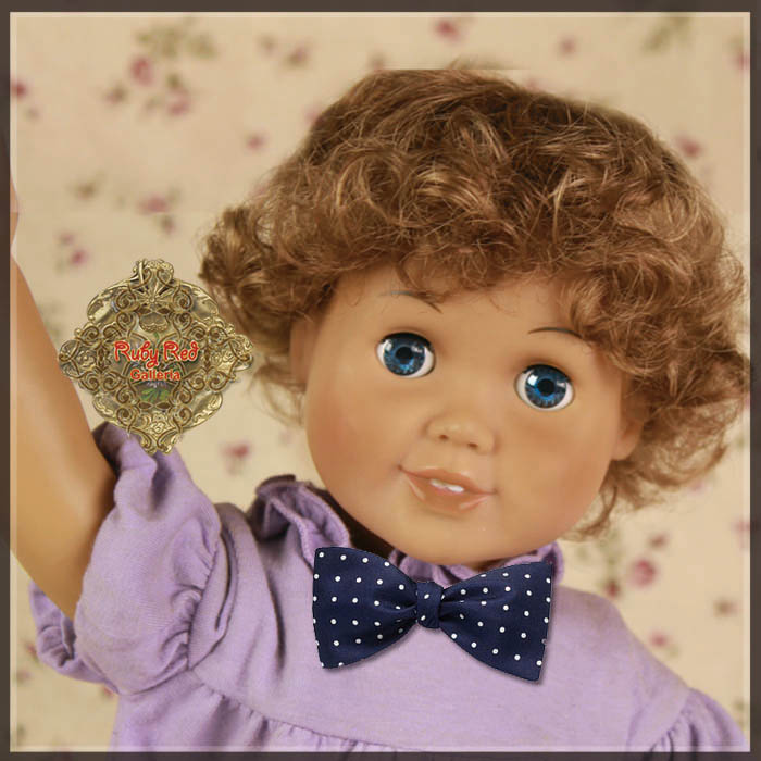 "AD0027A Ash Brown Curly Boy Style Wig for 18"" Play Girl"