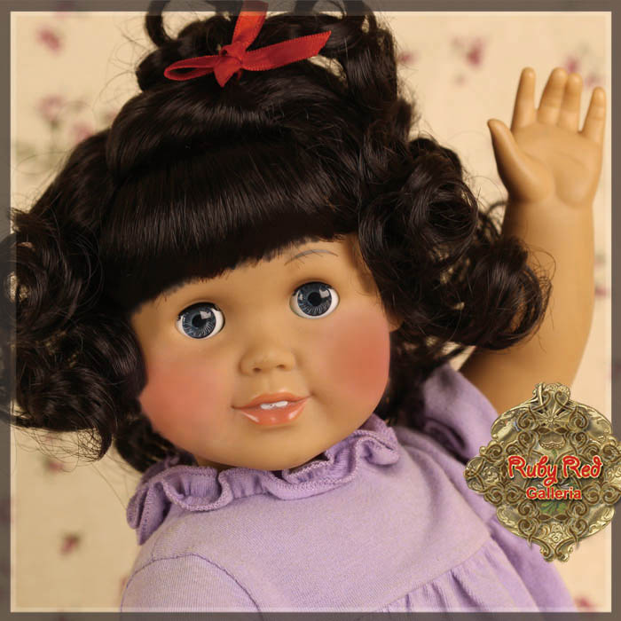 "AD0028A Black Curly Wig with Bangs for 18"" Play Girl"