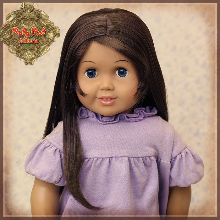 "AD0034A Dark Brown Straight Wig for 18"" Play Girl"