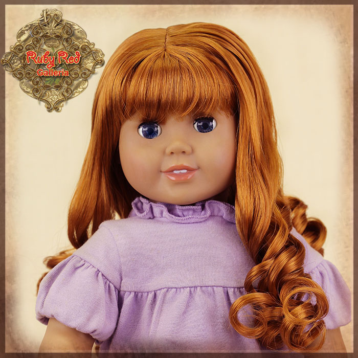 "AD0035C Curly Brown Wig with Bangs for 18"" Play Girl"