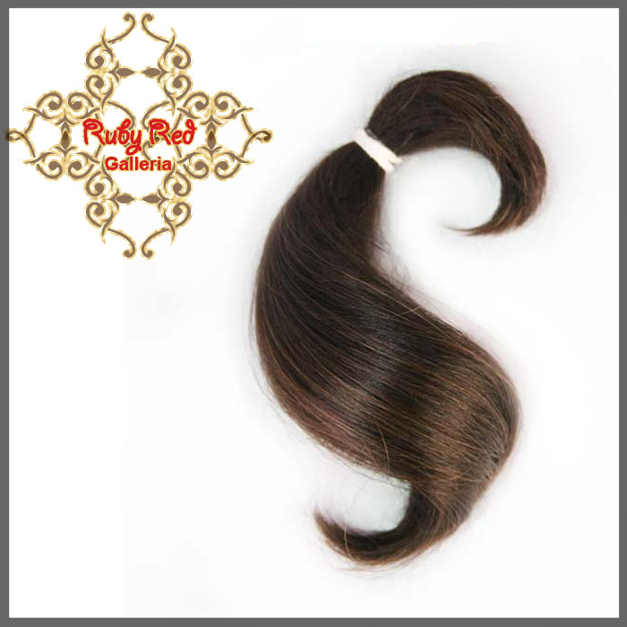 BD0005MH2 Dark Brown Curve ReBorn Toddler Hair 0.25 oz