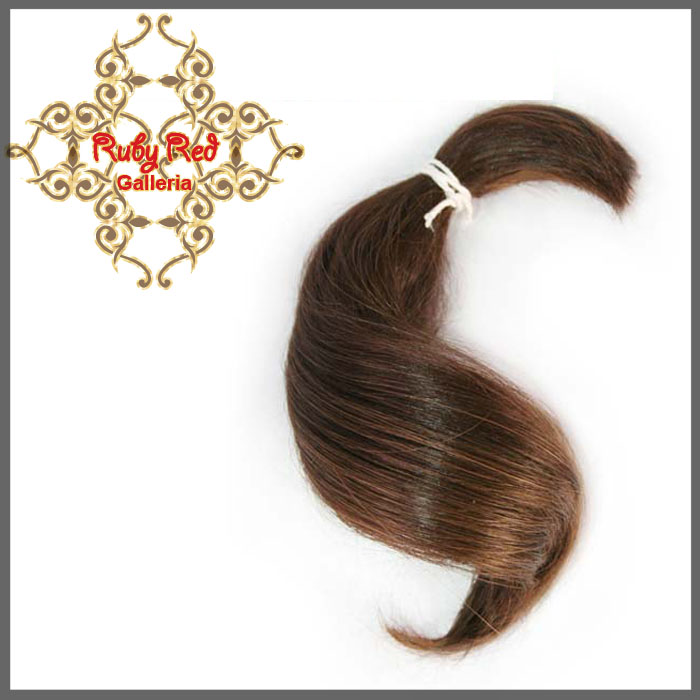 BD0005MH7 Medium Brown Curve ReBorn Toddler Hair 0.25 oz