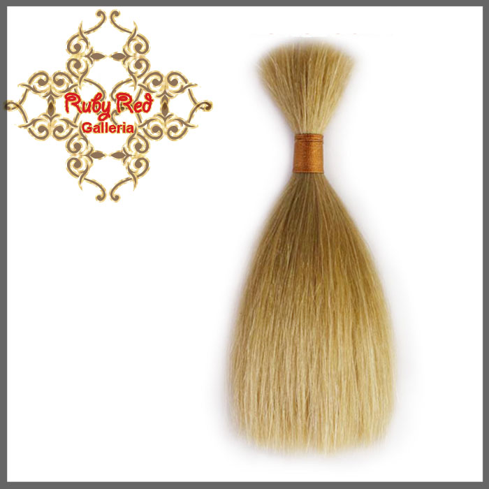 BD0007MH4 Ash Blonde Straight ReBorn Toddler Hair 0.25 oz