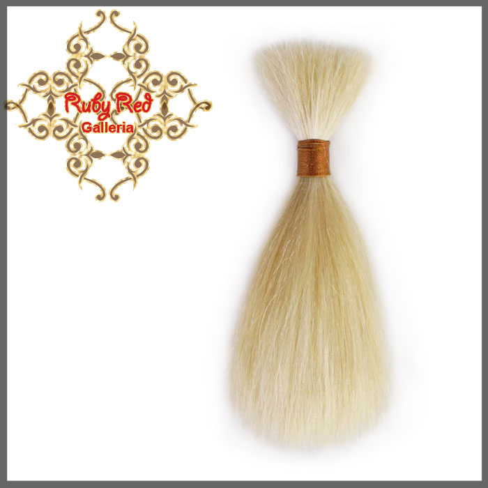 BD0007MH6 Blonde Straight ReBorn Toddler Hair 0.25 oz