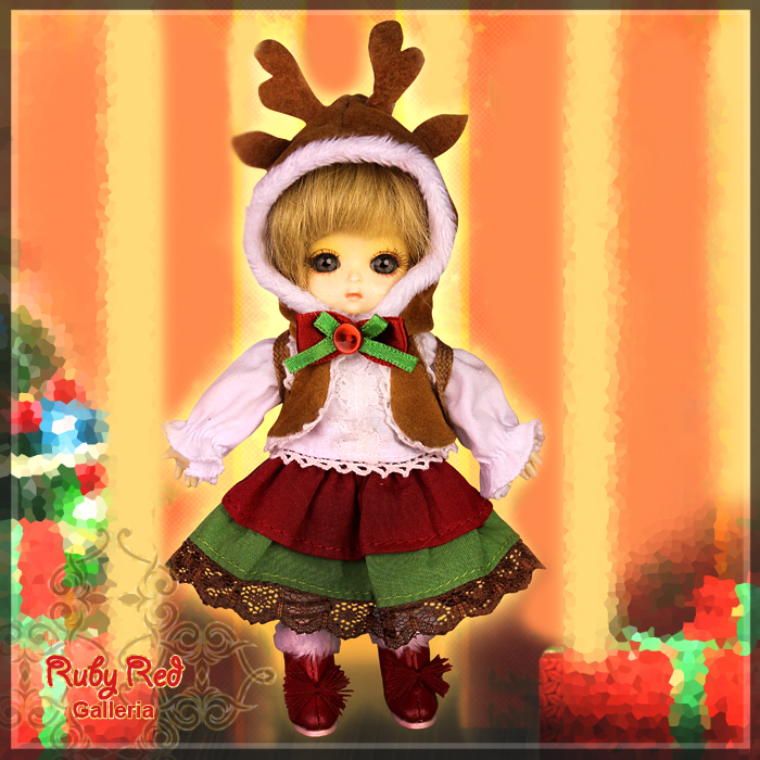 CC0012A Season's Reindeer (with wig) - Cloth Set