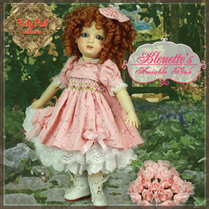 EC0028A Amiable Pink (with wig) - Bleuette Cloth Set