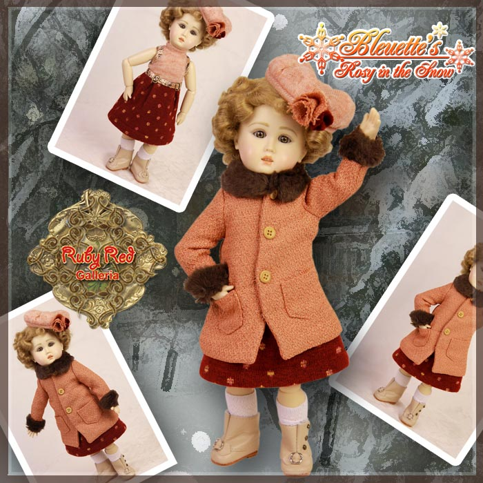 EC0033A Rosy in the Snow (with wig) - Bleuette Cloth Set