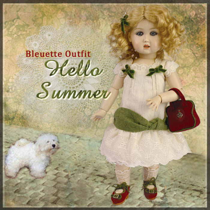 EC0036A Hello Summer! (with wig) - Bleuette Cloth Set