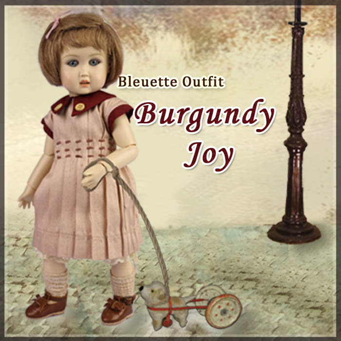 EC0037A Burgundy Joy (with wig) - Bleuette Cloth Set