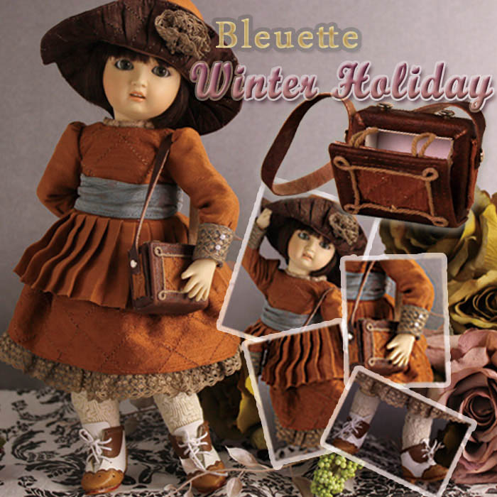 EC0041A Bleuette, Winter Holiday (with wig) - Bleuette Cloth Set
