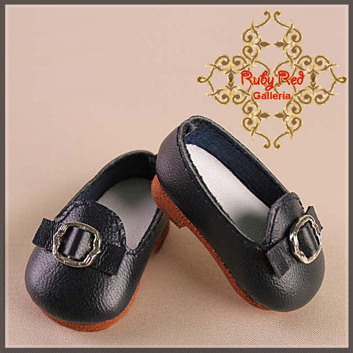 EH0004A Navy Leather Shoes