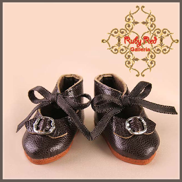 EH0005A Dark Brown Leather Shoes
