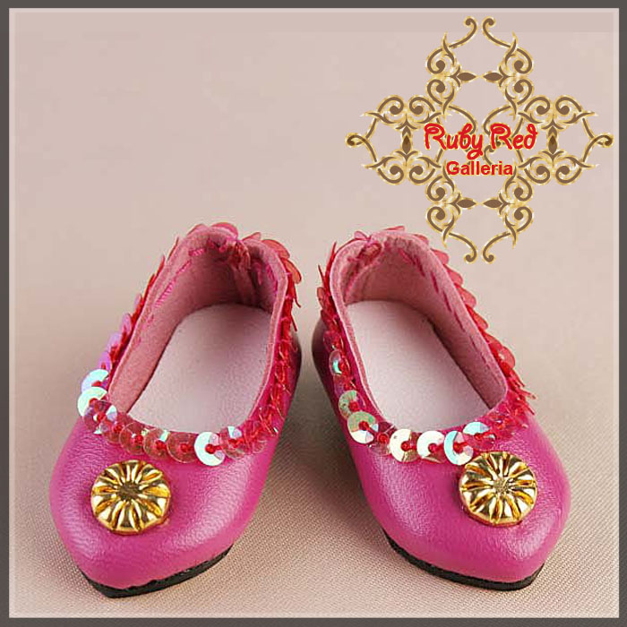 EH0012A Hot Pink Leather Shoes
