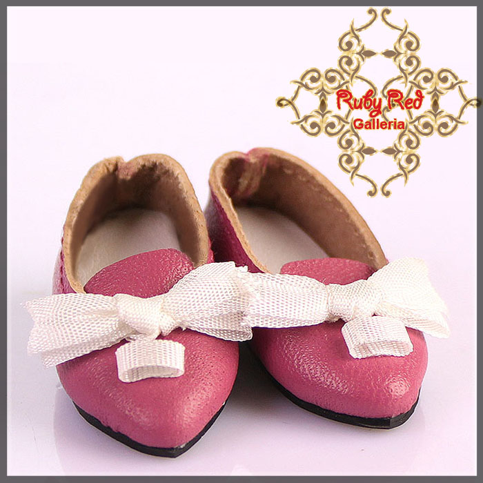EH0029A Pink Leather Shoes