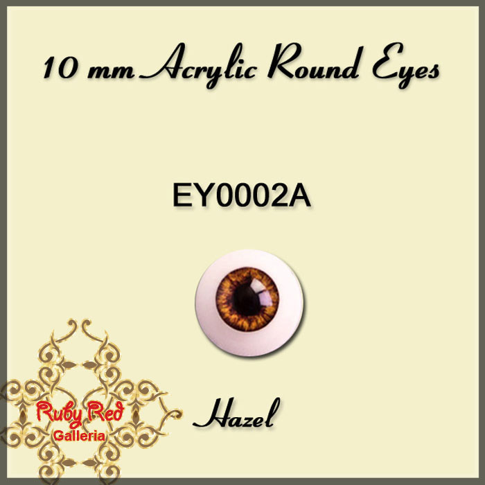 EY0002A 10mm Hazel Misty Acrylic Eyes