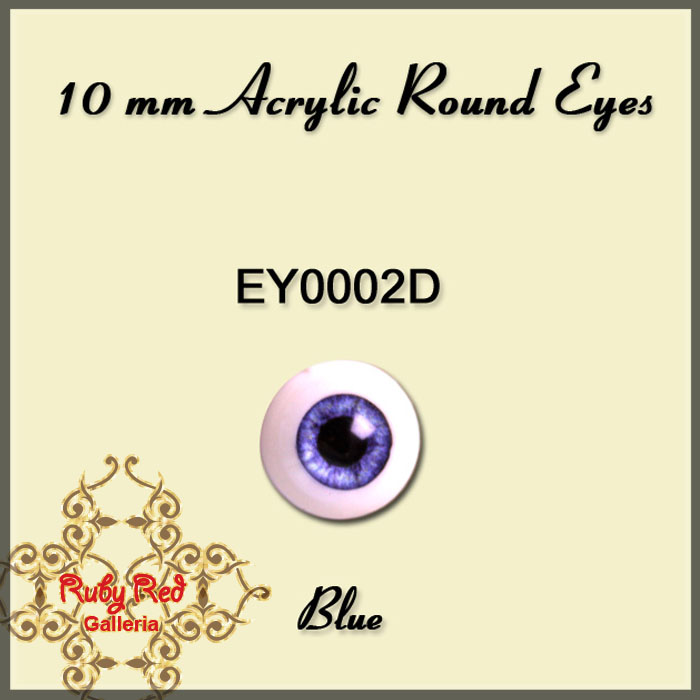 EY0002D 10mm Blue Misty Acrylic Eyes