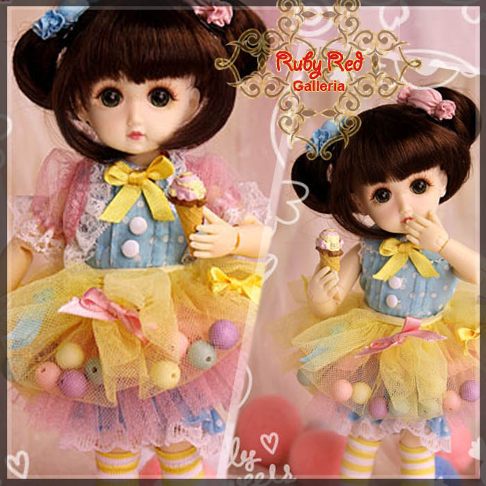 GC0020A Sweet Marshmallow (with wig) - Cloth set