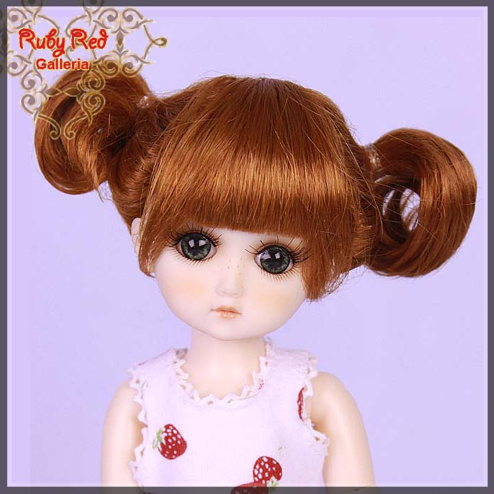 GD0001A Carrot Red Doll Wig
