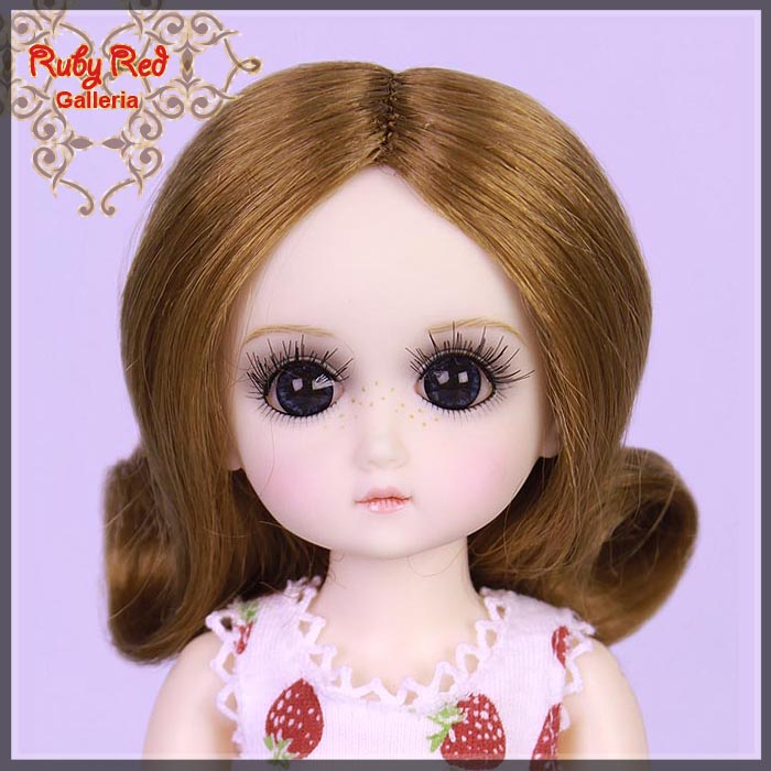 GD0002A Brunette Doll Wig