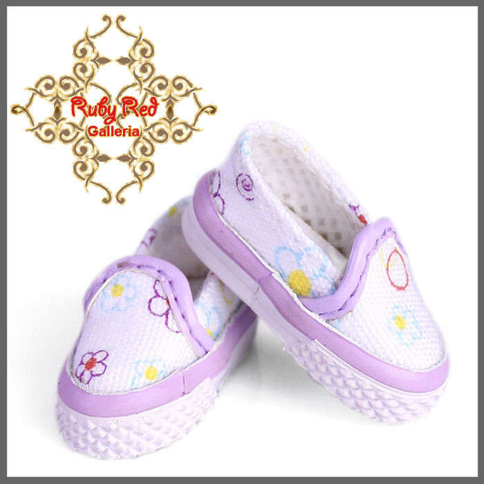 GH0001A White & Purple Slip-On