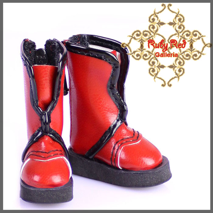GH0002A Red & Black Boots