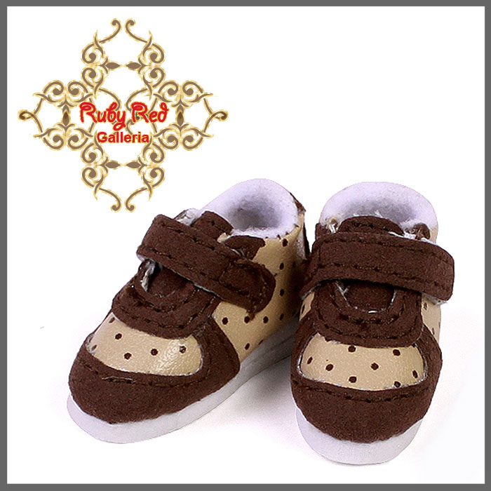GH0005A Khaki with Brown Dot Print Shoes