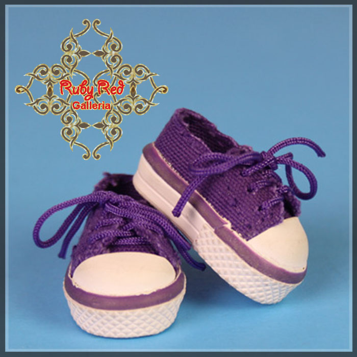 GH0010A Purple Double Tongue Canvas Sneakers