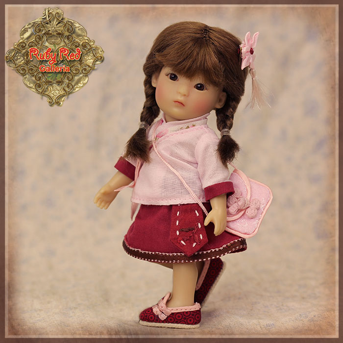 HC0048A Red and Pink Twins outfit - Yu Ping Style