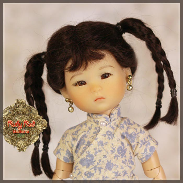 HD0003A Black Doll Wig with Braids