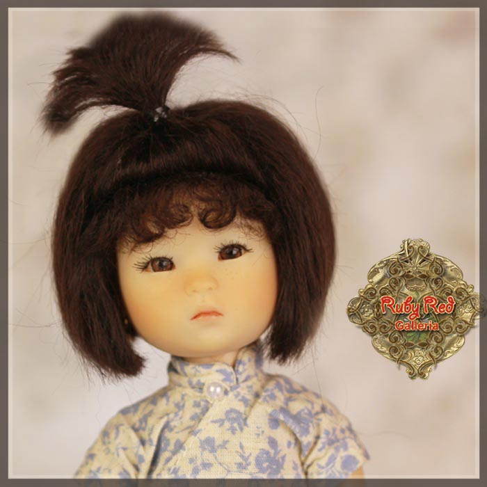 HD0004A Black Mohair Wig