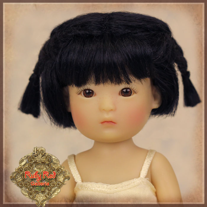 HD0024A Yu Ping Black Mohair Wig with Braids