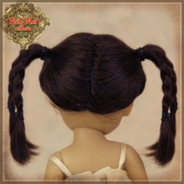 HD0028A Yu Ping Black Mohair Wig with Braids