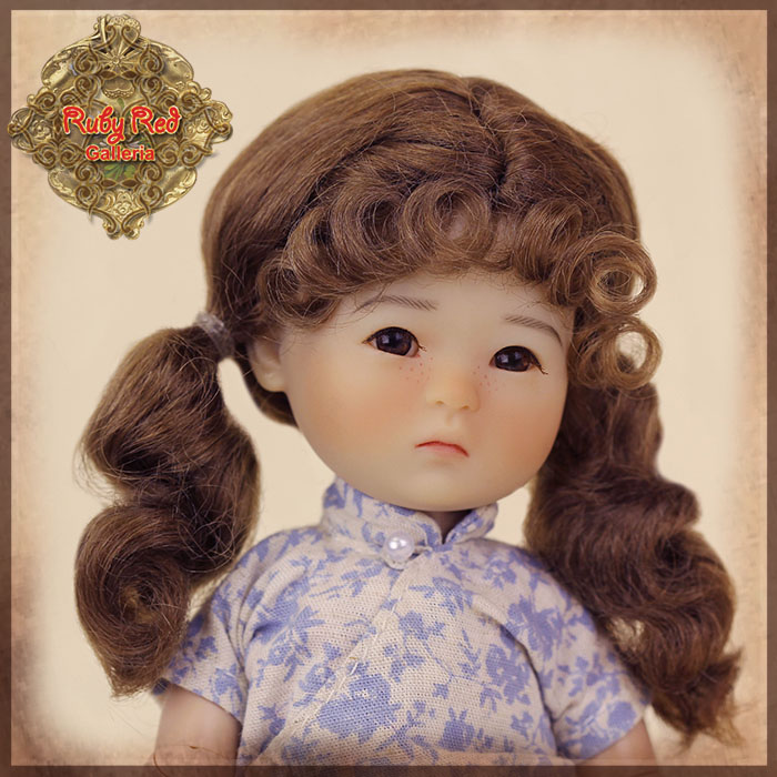 HD0029A Ten Ping Brown Mohair Wig with Braids