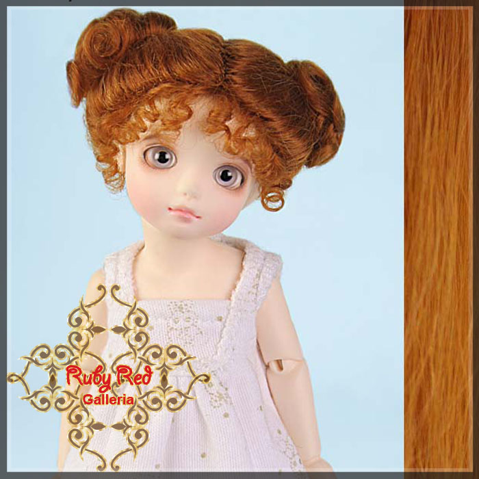 ID0006G Carrot Red Mohair Buns Wig