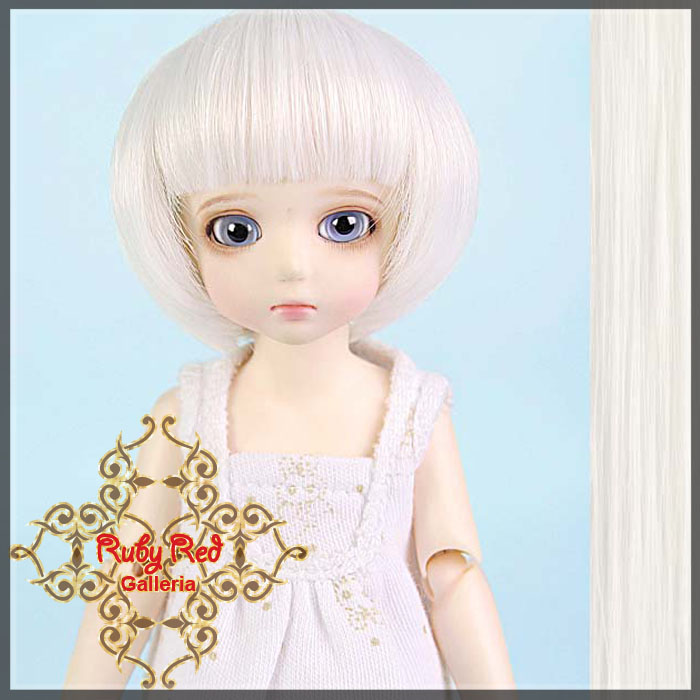 ID0007S White Short Bobbed Wig