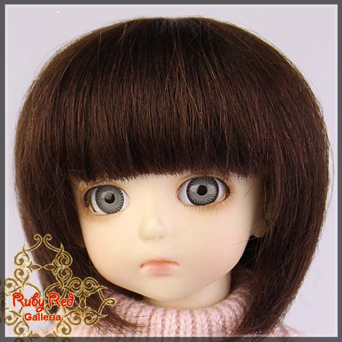 ID0010F Medium Brown Doll Wig