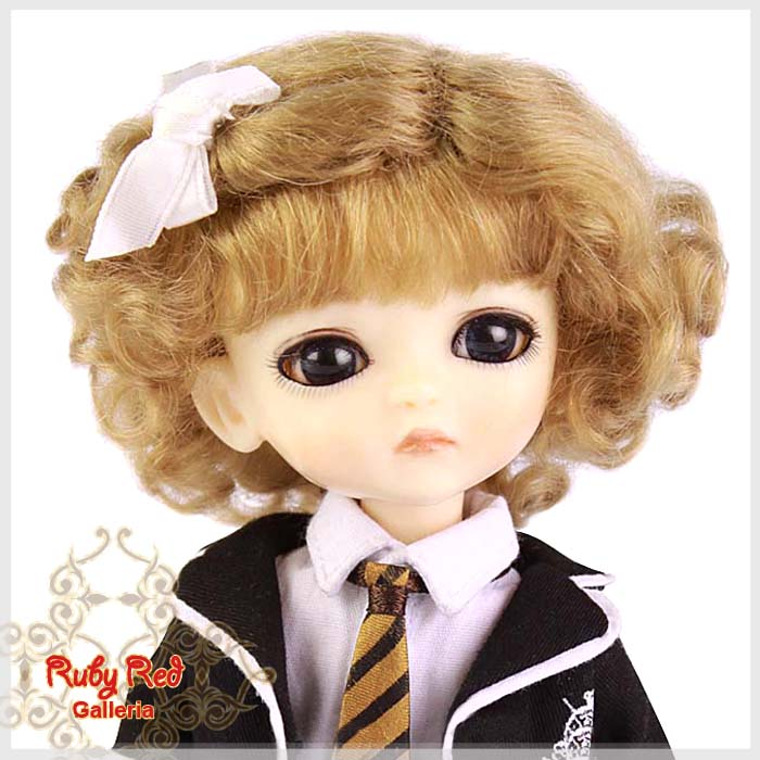 LD0003D Ash Blonde French Curly Mohair Wig